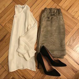 BR Monogram Bonze Silk Skirt